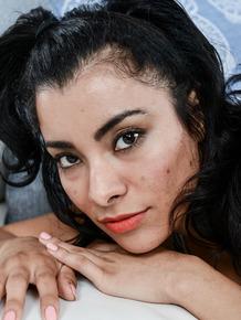 Pretty Latina beauty Maya Morena always happy to show vagina on cam