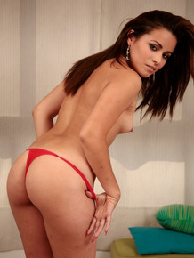 Argentinian beauty Any Vega bends over and showcases her fantastic butt