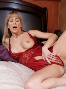 Horny mom Cherie Deville wakes up in the middle of the night and masturbates