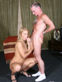Young blond girls Nikky Thorne & Gina Blonde fuck their Sugar Daddies together