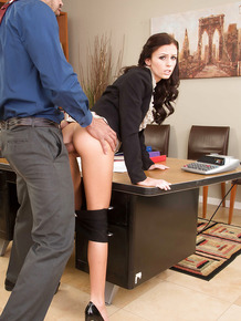 Ass fucking scene in the office features reality brunette Whitney Westgate