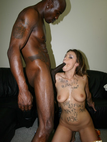 White slut Gia Paloma goes 1 on 1 with a big black dick