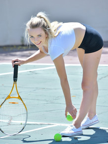 Teen cutie can't keep her clothes on while playing sports or from masturbating