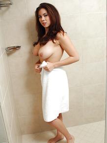 Busty Asian first timer Mai exposing perfect big natural tits