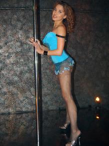 Sexy Brazilian stripper Renae Cruz stripping and pole dancing at the club