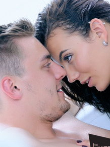 Handsome guy tenderly makes love with amazing brunette Vanessa Decker