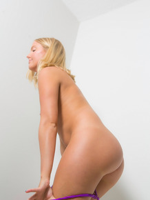 Natural blonde girl is secretly recorded getting changed in a dressing room