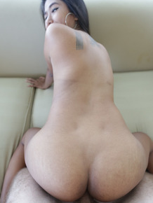 Cute Asian Lei sucks a big dick before she's penetrated hard in POV