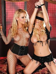 Stunning blonde pornstars are into sensual lesbian action