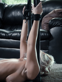 Blonde female London River endures all sorts of inhuman torture