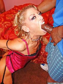 Perverted milf Chelsea Zinn is sucking lots of tasty hard poles