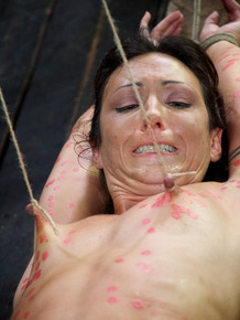 Young pain sluts endure extreme bondage session in a dungeon together