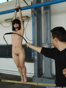 Pain slut Alexa smokes a final cigarette before bring whipped and flogged