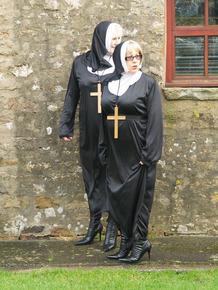 Naughty nun Speedy Bee and a Sister have a threesome with the Friar