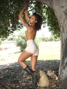 Tattooed black girl Skin Diamond is rescued and fucked by Ryan Madison