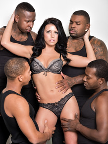 Top pornstar Adriana Chechik lives up to title during an interracial gangbang