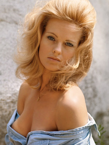Vintage photo session with stunning blonde beauty Angel Tompkins
