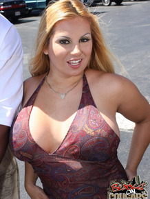 Blonde beauty Friday enjoys herself with two big black meat poles