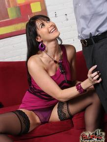 Stunning Eva Karera wears stockings while she's getting her pussy blacked