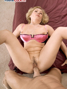 German MILF Cee Cee gets facialed after being banged by a younger man