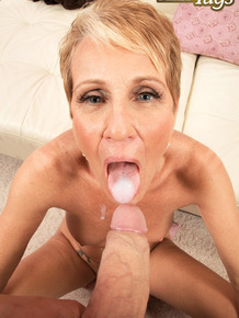 Mature lady Misty Luv fucks and sucks her toy boy when hubby is away