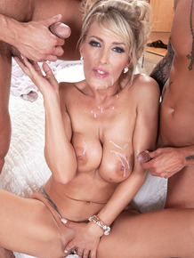 Gorgeous MILF Lana Vegas gets her pierced cunt and asshole double fucked
