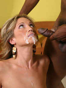 Cuckold hubby eats jizz after watching his wife Spring Thomas fucking a BBC