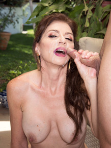 Horny older beauty and her gardener shared a passionate lovemaking act