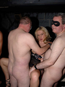 British girls get gangbanged by men in masks during a wild sex party
