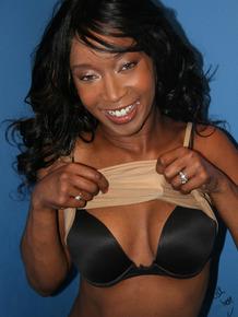 Vacant ebony Stacey Cash enjoys 1 on 1 gloryhole sex with nasty drippy facial