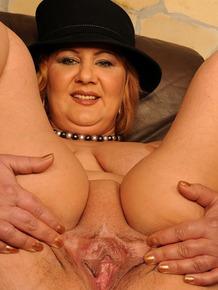 Horny mature Katharina tricked young guy and rides his big hard cock