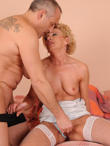 Super nasty granny Margarette gets fucked and creampied by a porn veteran