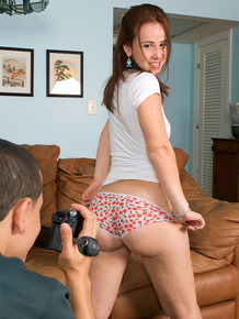 Latina female Helena Lopez and her guy make a homemade porno