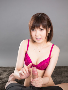 Cute Japanese girl cleans the jizz from her fingers with mouth