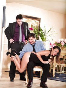 Hot wife Olivia Wilder fucking another man in front of her hapless cuckold