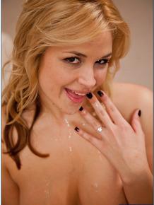 Gorgeous MILF Sarah Vandella sucks a hard cock and gets slammed