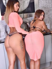 Indian twins Preeti and Priya expose their big tits and butts