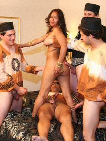 Wild Indian bitch Rangeni gets involved in a private gangbang with locals