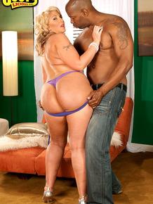 Thick Latina woman flaunts her big ass during interracial foreplay