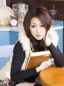 Wonderful Japanese college babe Yu Yamashita wears short skirt and black boots
