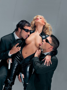 Inked Liliane Tiger gets double screwed by her colleagues