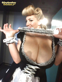 Blonde maid September Carrino is showing off her truly spicy big tits