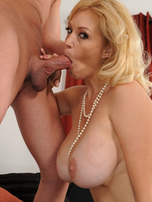 Hot MILF Charlee Chase gets her huge tits covered with cum after nice fucking