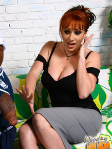 Redhead mom Kylie Ireland makes her son watch her get fucked by a black cock