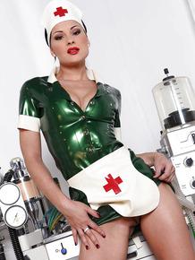 Nurse uniform makes babe Abbie Cat horny and wet masturbating roughly