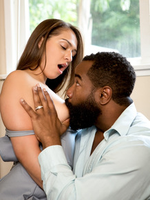 White girl Sara Luvv gets banged by her black stepfather in heels