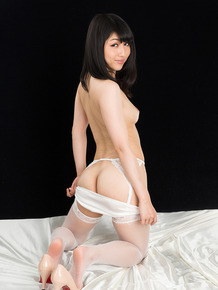 Sexy Japanese submissive gives a handjob and eats cum like a good slave girl