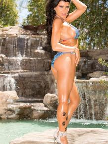 Big boobed Latina Romi Rain makes her porn debut in a hardcore setting