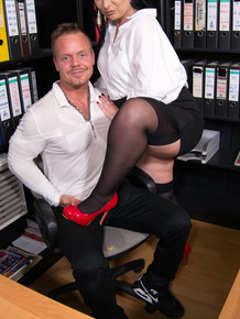 Older German secretary and her boss have sexual intercourse in her office