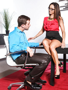 Big boobed boss lady Ava Addams fucking make subordinate in office